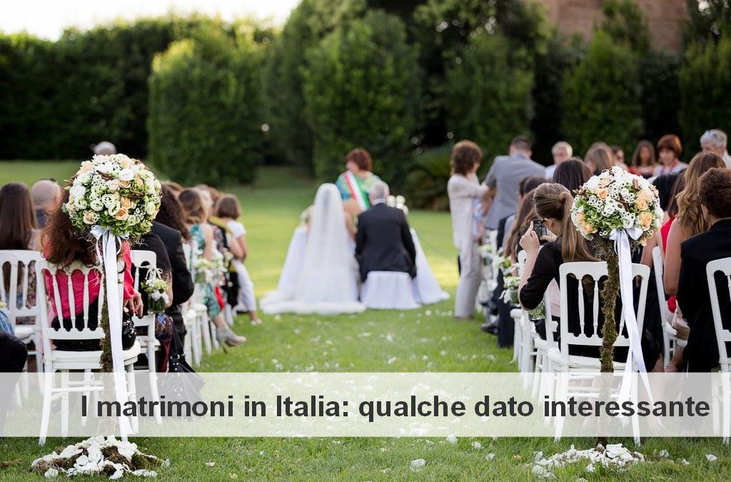 I matrimoni in Italia: qualche dato interessante